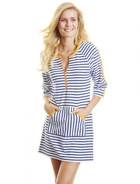 Cabana-Life---UPF50+-Blau-mit-Orange---Terry-UV-Kleid