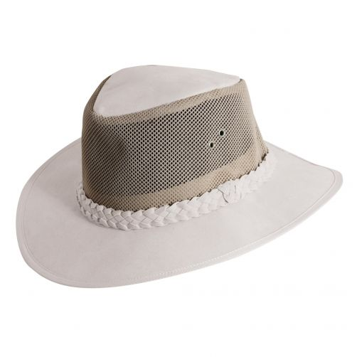Dorfman-Pacific---UV-Schutz-stilvolle-Hut-für-Herren---Weiß