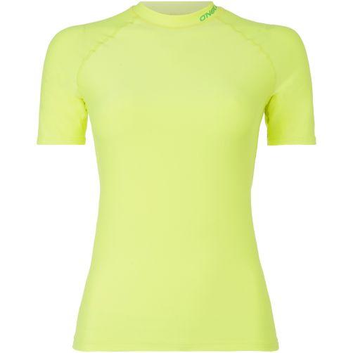 O'Neill---UV-Shirt-mit-kurzen-Ärmeln-für-Damen---Neongelb