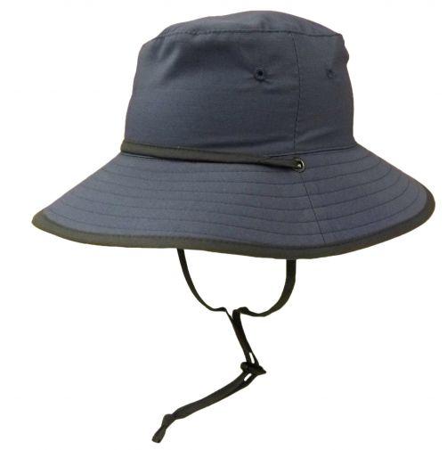 Rigon---UV-Sonnenhut-für-Jungen---Petrolblau-/-Grau