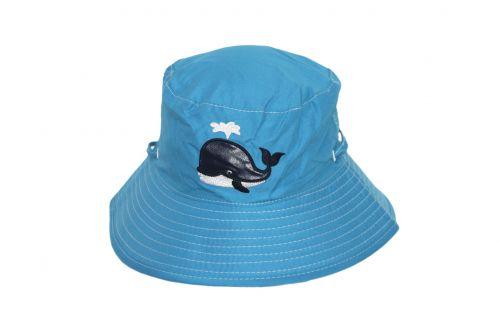 Rigon---UV-Sonnenhut-für-Kinder---Blau-/-Walaufdruck