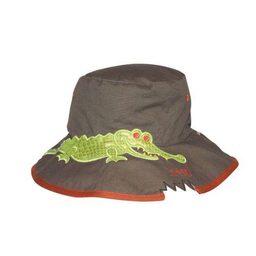 Rigon---UV-Sonnenhut-für-Kinder---Khaki-/-Krokodilaufdruck