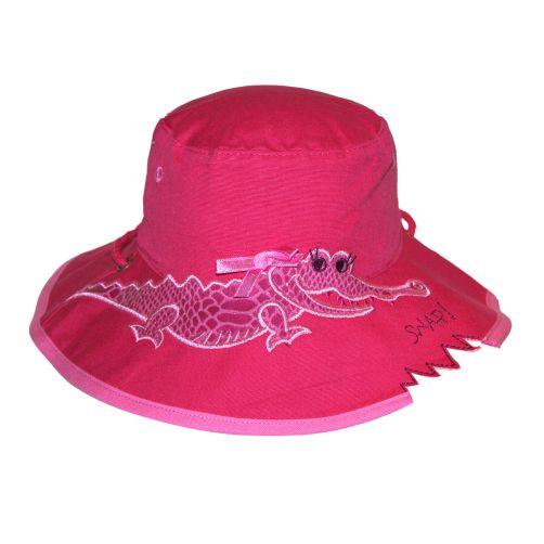 Rigon---UV-Sonnenhut-für-Kinder---Pink-/-Krokodilaufdruck