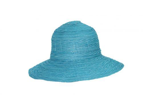 Rigon---UV-Schlapphut-für-Damen---Petite---Türkis-/-Pünktchen