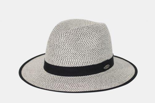 Rigon---UV-Fedorahut-für-Damen---Anja---Weiß-/-Schwarz