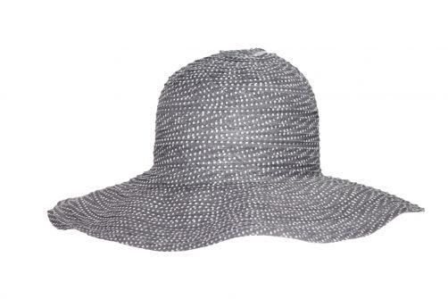 Rigon---UV-Schlapphut-für-Damen---Grau-/-Pünktchen