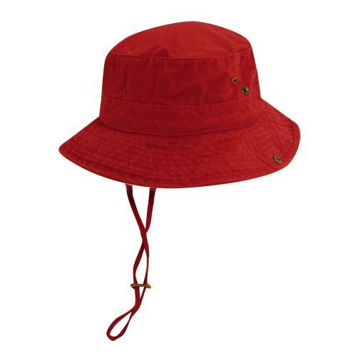 Dorfman-Pacific---UV-Schutz-Bucket-Hut-für-Herren---Rot/Blau