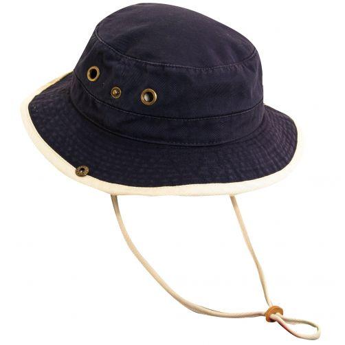 Dorfman-Pacific---UV-Schutz-Hut-für-Kinder---Blau/Altweiß