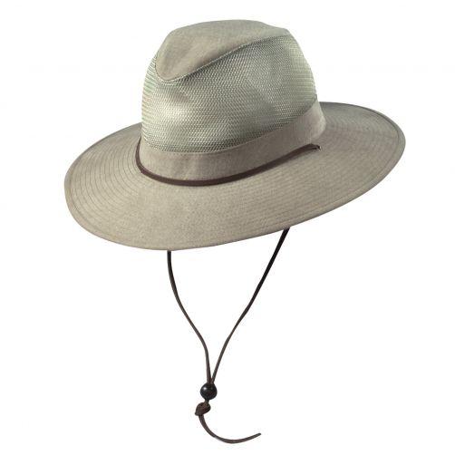 Dorfman-Pacific---UV-Schutz-Safari-Hut-für-Kinder---Kaki