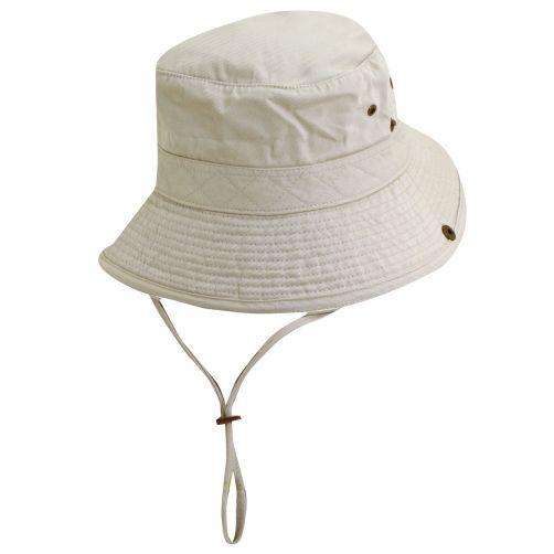 Dorfman-Pacific---UV-Schutz-Hut-für-Kinder---Altweiß-/-Schwarz