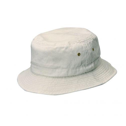 Dorfman-Pacific---Bucket-Hut-für-Kinder---Grau/Weiß