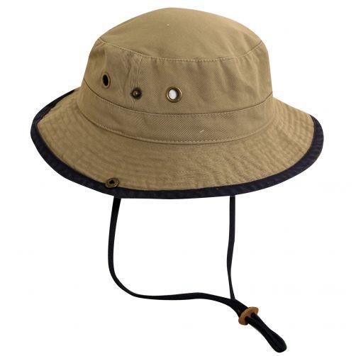 Dorfman-Pacific---UV-Schutz-Hut-für-Kinder---Kaki/Blau
