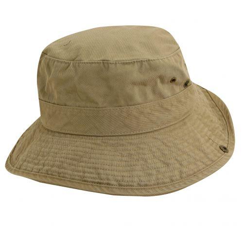 Dorfman-Pacific---UV-Schutz-Hut-für-Kinder---Kaki-/-Schwarz