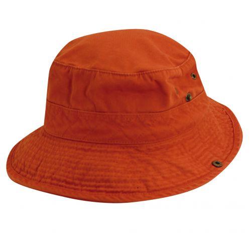 Dorfman-Pacific---UV-Schutz-Hut-für-Kinder---Orange-/-Blau