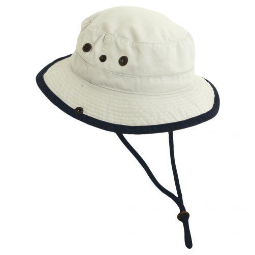 Dorfman-Pacific---UV-Schutz-Hut-für-Kinder---Altweiß/Blau