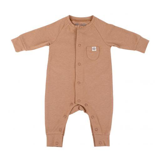 Cloby---UV-Schutz-Strampler-für-Babys---Kokosnussbraun