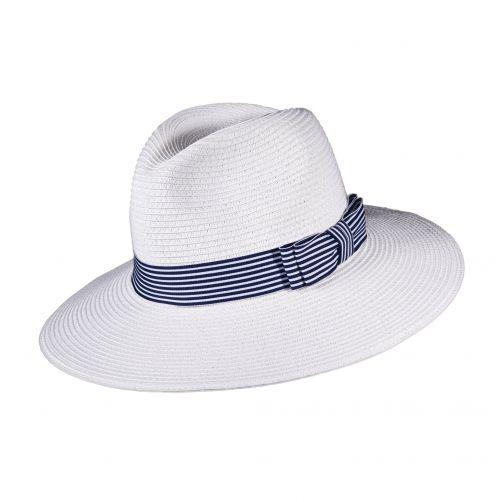 Fedora-Hut-für-Damen---weiß