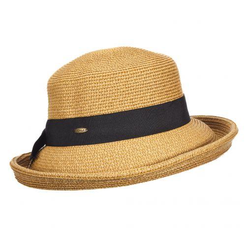 Scala---Geflochtender-Hut-für-Damen---braun