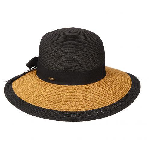 Scala---UV-geflochtender-Hut-für-Damen---schwarz