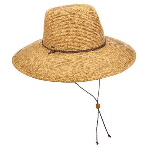 Scala---UV-geflochtender-Hut-für-Damen---braun