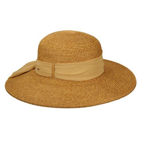 Scala---Geflochtender-UV-Hut-für-Damen---Toast