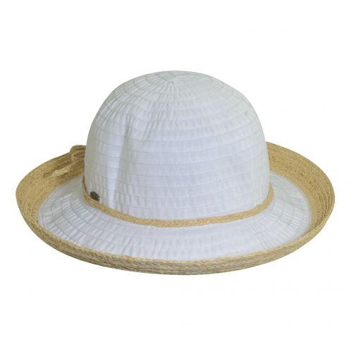 Scala---UV-Hut-mit-Band-für-Damen---weiß