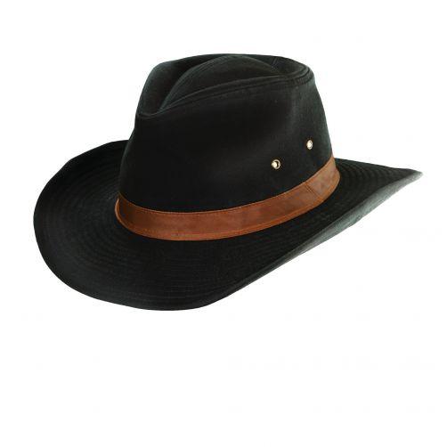 Dorfman-Pacific---UV-Schutz-Hut-Outback-für-Herren---Schwarz