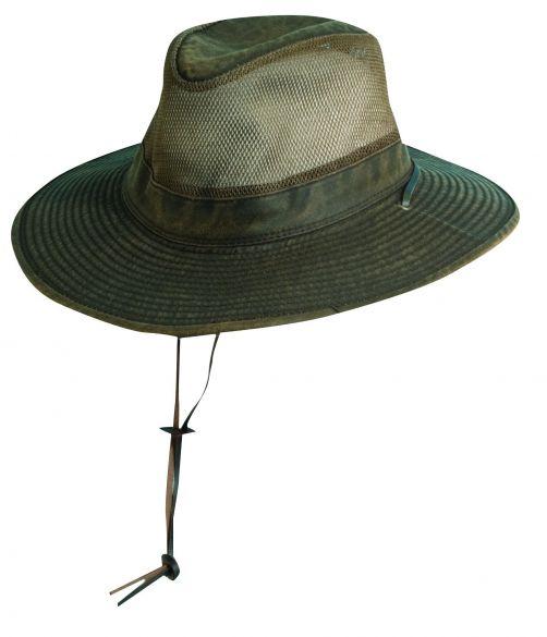 Dorfman-Pacific---Safari-Hut-mit-Netz-für-Herren---Braun