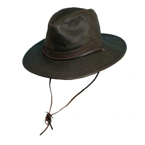 Dorfman-Pacific---UV-Schutz-Outback-Westernhut-für-Herren--Braun