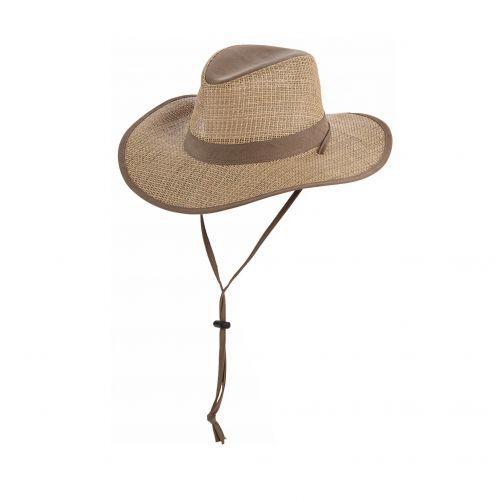 Dorfman-Pacific---Safari-Seagrass-Hut-für-Männer---Olive
