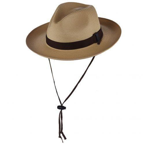 Scala---Geflochtener-Safari-Cowboy-Hut-für-Herren---Natur