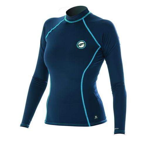 Prolimit---UV-Badeshirt-für-Damen---langärmlig---dunkelblau