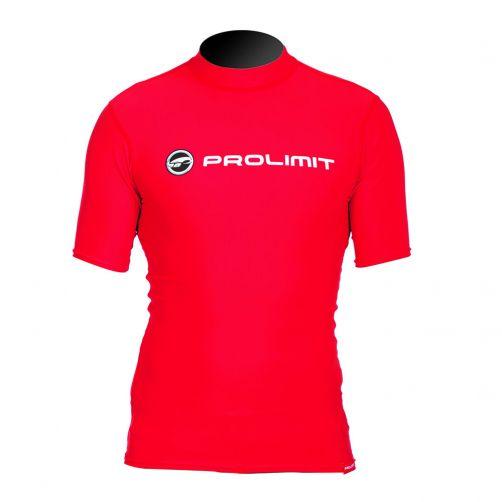 Prolimit---UV-Badeshirt-für-Herren-mit-kurzen-Ärmel--Rot