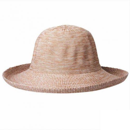 Rigon---UV-Sonnenhut-für-Damen---Hellbraun-Meliert