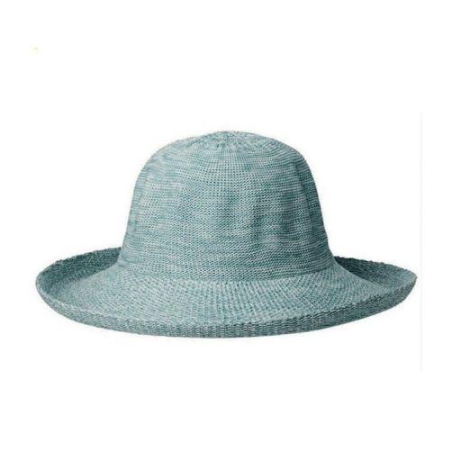 Rigon---UV-Sonnenhut-für-Damen---Aquablau-Meliert
