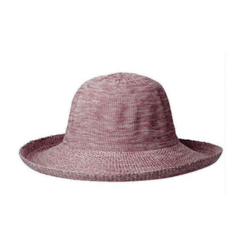 Rigon---UV-Sonnenhut-für-Damen---Altrosa-Meliert