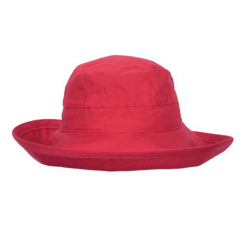 Rigon---UV-Bucket-Hut-für-Damen---Mohnrot