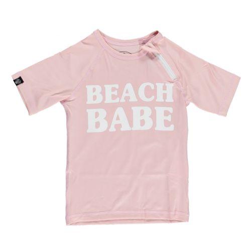 Beach-&-Bandits---UV-Schwimmshirt-für-Mädchen---Beachbabe---Rosa