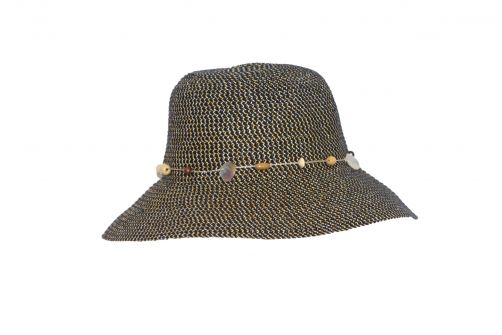 Rigon---UV-Bucket-Hut-für-Damen---Marineblau-/-Natur