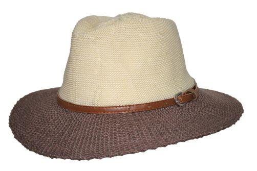 Rigon---UV-Sonnenhut-für-Damen-mit-Hutband---Mocca-/-Beige