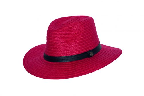 Rigon---UV-Fedorahut-für-Damen---Rubinrot