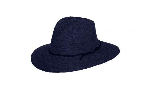 Rigon---UV-Fedora-Hut-für-Damen---Jacqui---Marineblau-Meliert