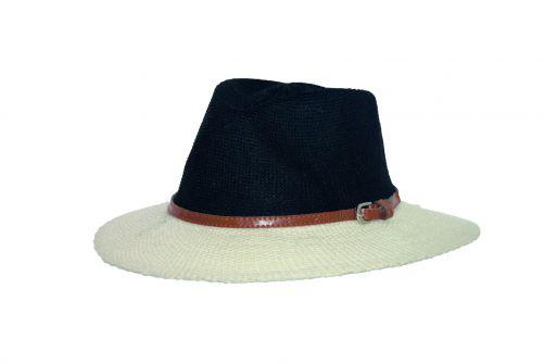 Rigon---UV-Sonnenhut-für-Damen-mit-Hutband---Schwarz