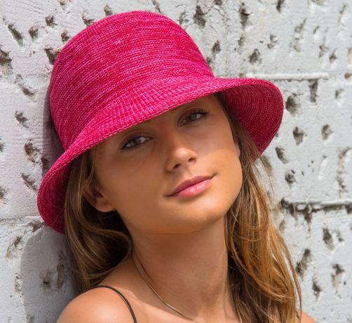 Rigon---Bucket-Hut-für-Damen---Pink