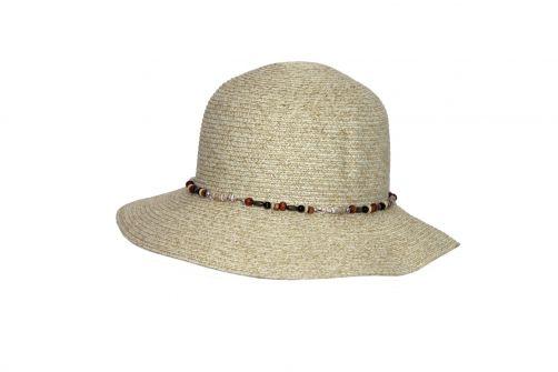 Rigon---UV-Bucket-Hut-für-Damen-mit-Perlen---Elfenbein
