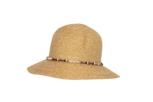 Rigon---UV-Bucket-Hut-für-Damen-mit-Perlen---Natur