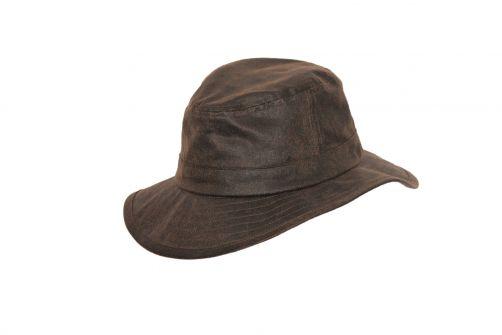 Rigon---Bucket-Hut-für-Herren---Suedette---Vintage-Braun
