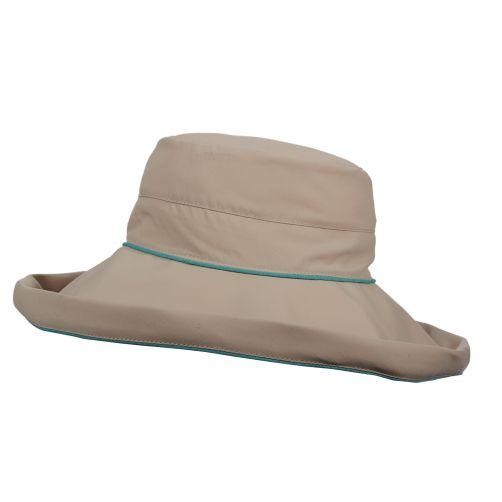 Stetson---UV-Hut-mit-großem-Rand-für-Damen---Bucket---Lagune
