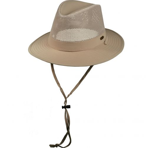 Stetson---UV-Nylon-Hut-für-Männer-mit-Kordel---Bucket---khaki