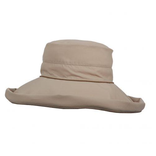 Stetson---UV-Hut-mit-großem-Rand-für-Damen---Bucket---braun